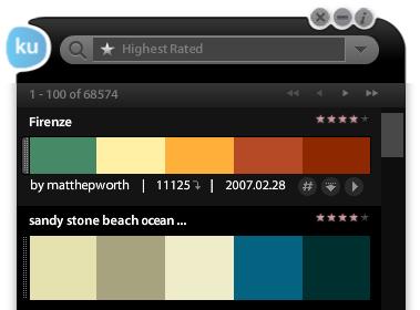 Adobe kuler Desktop UI