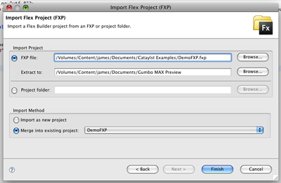 Import FXP Dialog